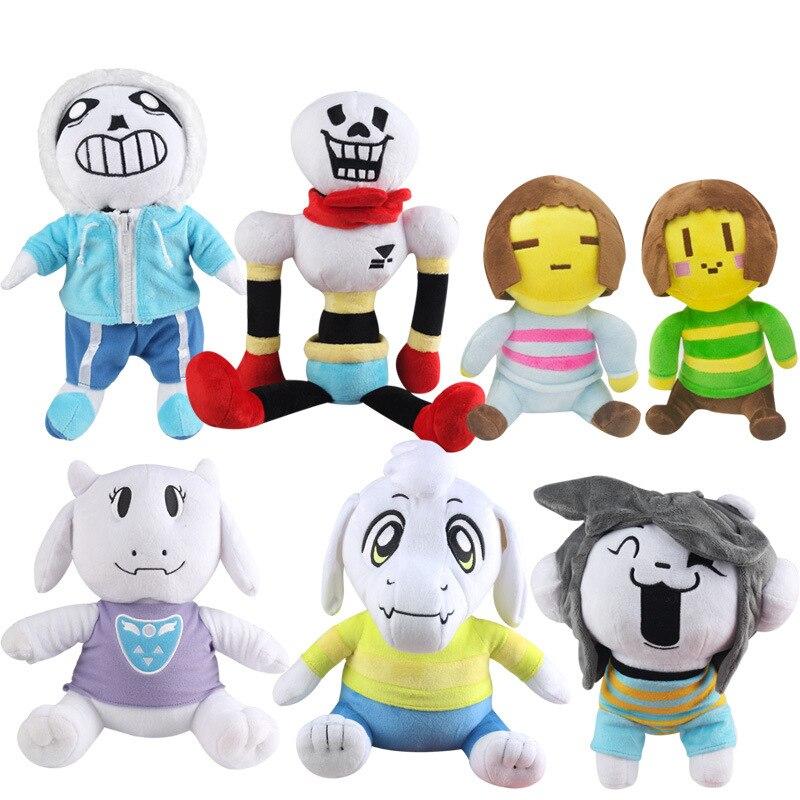 11 Styles poupée en peluche de conte de fées 20-35 cm jouets en peluche Sans Papyrus Frisk Chara Temmie en peluche pour enfants cadeaux pour enfants