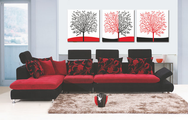 Groovy Aliexpress Com Buy 3 Pcs Sets Canvas Painting Red White Black Largest Home Design Picture Inspirations Pitcheantrous