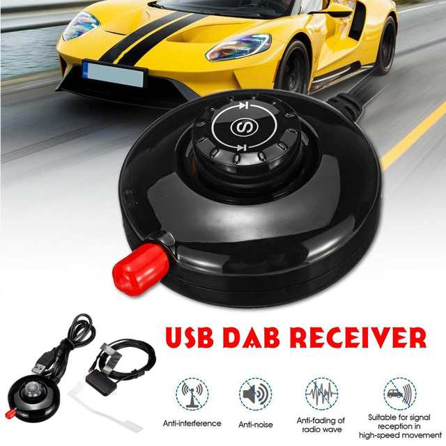 LED Panel Stereo Receiver And Portable Car Dab Digital Radio Receiver With Car Use Active Antenna