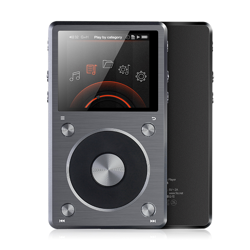 FiiO X5 2nd Gen Hi-Res Music Player, 192K/64BIT, DSD Native Support, High Power Output,FiiO MP3 Player X5II,MP3 X5 mp3 плеер fiio hi fi x5 iii титаниум