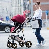5 цветов Роскошные Детские коляски Высокая пейзаж детская коляска новорожденного коляска может сидеть и лежат четыре колеса