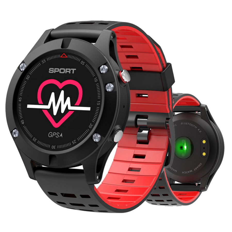 RUIJIE No.1 F5 GPS Smart watch Altimeter Barometer Thermometer Bluetooth 4.2 Smartwatch Wearable devices for iOS Android smart baby watch q60s детские часы с gps голубые