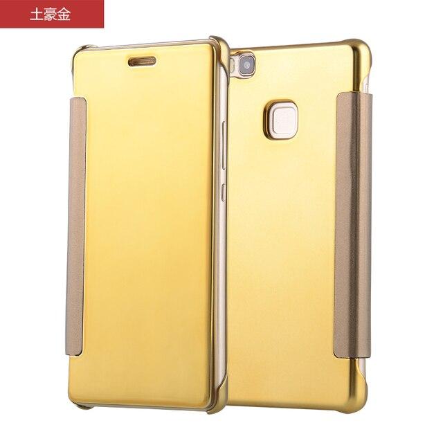 funda Huawei  P9 Lite case Luxury Clear View Mirror Flip case For Huawei Ascend P9 LITE VNS-L21 VNS-L31 VNS L21 L31 L22 L23 case