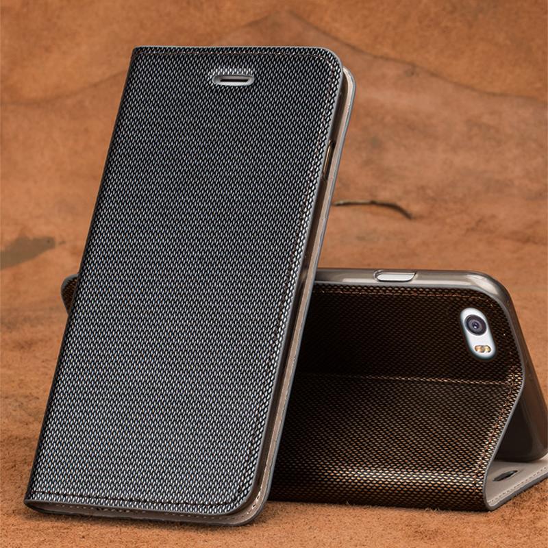 Wangcangli marque coque de téléphone en cuir double lignes de couverture de téléphone flip pour Xiao mi mi 5 fait à la main coque de téléphone