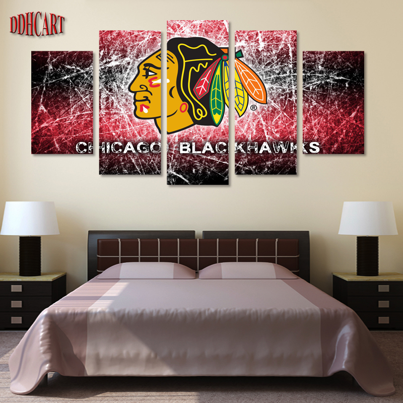 5 Piece Chicago Blackhawks Sports