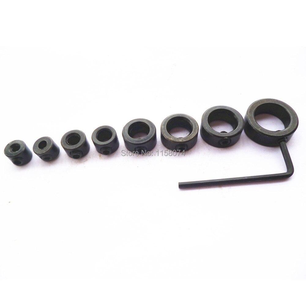 3-16mm Drill Bit Carbon Steel Clamp Shaft Lock Slot Sleeve Limit Ring Locator