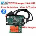 DHL Livre Snooper Wow Com Software Bluetooth V5.008 R2 Com Keygen mesmo Como TCS CDP + Ferramenta De Diagnóstico Para O Caminhão Do Carro Até 2016