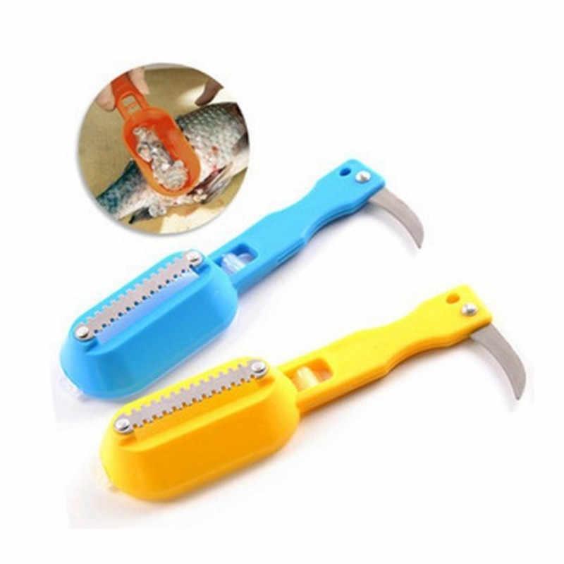 السمك قشور الجلد المتسلق المزيل و سكين تنظيف سريع مطبخ نظيفة أدوات القشط السمك الموازين مكشطة المطبخ اكسسوارات D5