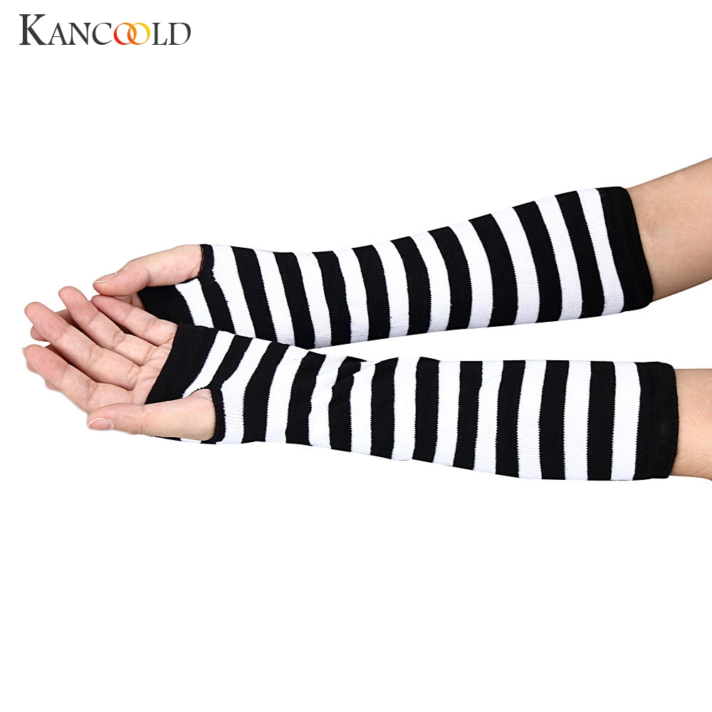KANCOOLD Gloves Winter Wrist Arm Hand Warmer Knitted Long Fingerless Gloves Mitten High Quality Casual Gloves Women 2018NOV23