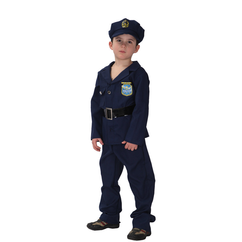 MOONIGHT Kinder Polizist Uniform Jungen Buch Woche Kostüm Party ...