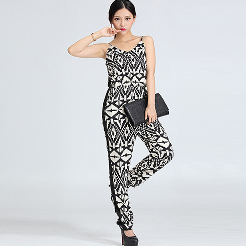 86817b626a8 New Vogue Pop Printing Rompers Sexy Tank Pops Summer Casual Jumpsuits  Ladies  Sleeveless Elegant Evening Club Wear Size S L-in Jumpsuits from  Women s ...