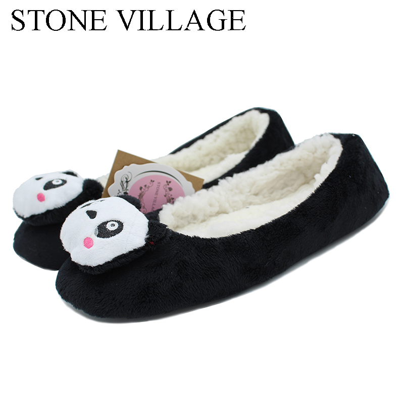купить New Arrival 2018 Winter New Cartoon Slippers Lovely Home Slippers Warm Flats Soft Sole Women Indoor Floor Slippers/Shoes онлайн
