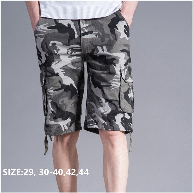 Shorts   Men Cargo Camouflage Military Summer Cotton Pockets Bermuda Camo Masculino Pantalones Hombre Plus Size 40 42 44 Man   Short