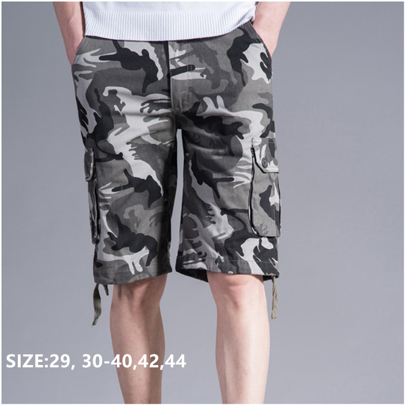 newest closer at quality Shorts Men Cargo Camouflage Military Summer Cotton Pockets Bermuda Camo  Masculino Pantalones Hombre Plus Size 40 42 44 Man Short