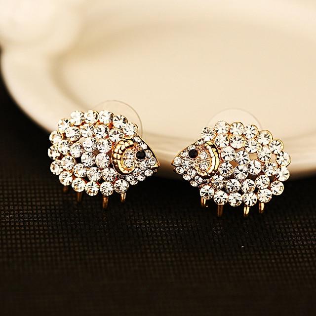 Sheep Stud Earrings For Women Earings Fashion Jewelry Hypoallergenic Studs Boucle D Oreille