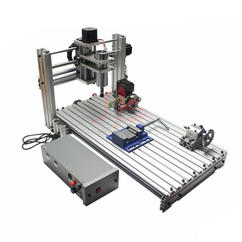 NEW Gantry Type 6020 Metal DIY CNC Router Engraver USB CNC 400w Spindle Wood Carving Machine diy mini 6020 metal cnc wood router er11 cnc engraving machine usb port 60x20cm