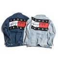 New Ripped Denim  jacket hip hop streetwear printing loose men and women unisex broken jean jackets,street couple denim jacket