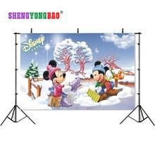 цена на SHENGYONGBAO Vinyl Digital Printed Photography Backdrops Prop Cartoon Happy birthday theme  Photo Studio Background SS-00023