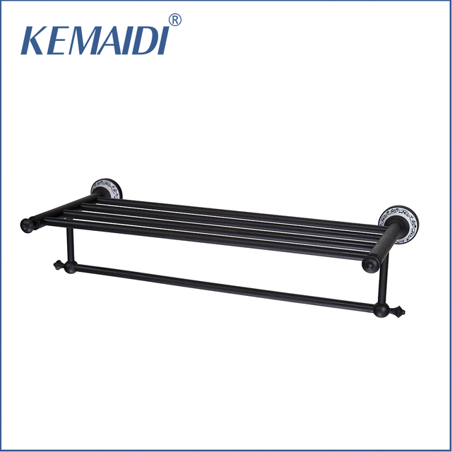KEMAIDI Black Bathroom Shelf Oil Rubbed Bronze Wall Mounted Shower ...