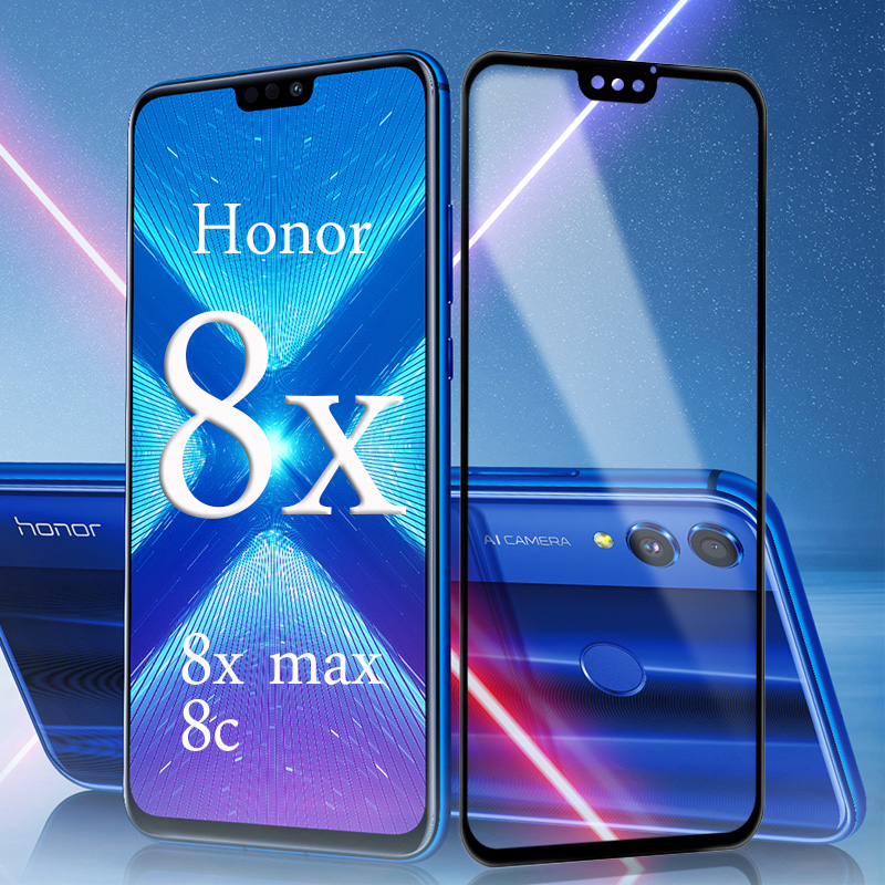 2pcs Protective Glass On For Huawei Honor 8x Max 8c Tempered Glas Honor8x Honor8c  Hono 8 X C X8 Safety Verre Hauwei Huawey Film