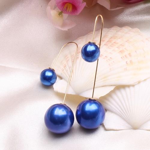 U-Shaped Double Sided Pendientes Mujer Faux Pearl Ball Drop Earring Dangle Earrings for Women Bijou Party Jewelry Brincos 2018