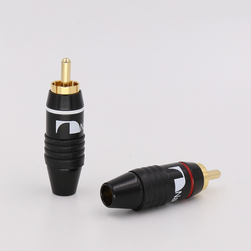 10x  VR004G RCA Plug Audio Cable Connector 24K Gold Plated +free Shipping +100% New