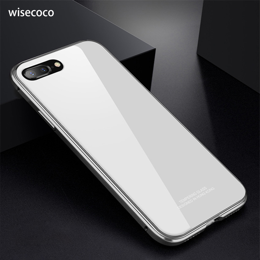 1c811db339129c For iPhone 7 8 Plus Hard Tempered Glass Cover 360 Protect Luxury Metal  Bumper Case