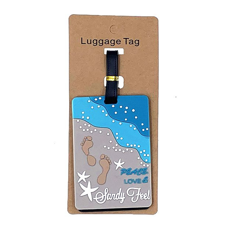 Fashion Leisure Beach Stars Luggage Tags Silica Gel Suitcase Travel Accessories ID Addres Holder Portable Women Baggage Boarding