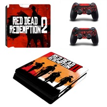 Red Dead Redemption 2 PS4 Slim Skin Sticker Decal Vinyl for Sony Playstation 4 Console and 2 Controllers PS4 Slim Skin Sticker