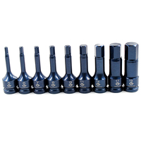 5mm 19mm Hex Socket Sleeve Nozzles Screwdriver Socket Set Nut Driver Set Drill Bit Adapter Hex Power Tools 9pcs/set