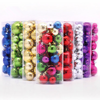 36pcs Christmas balls Christmas decoration supplies Xmas Decorative New Year Christmas Tree Decorations free shipping