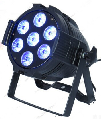 10pcs/lot Led wash 7*10W 4 in 1 RGBW mini led flat par can disco stage light for concert 8 dmx channels aluminum housing цены
