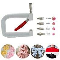 Nailed Bead Machine Clothing Manual Pearl Cap Rivet Craft DIY Repair Knit Tool DC120