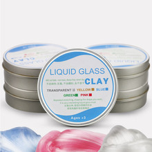 Plasticine Crystal No-boron Color Cotton Slime Toys Clay Putty Fluffy Supplies DIY  Playdough for Kids Antistress Polymer Gift diy dinosaur clay cotton charm play playdough suit with skeleton model maker putty kit polymer arena tool archeology kids toys