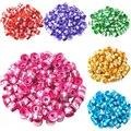 LNRRABC 100 piezas 6mm x 4mm en forma de tubo de aluminio cilindro encantos espaciador perlas sueltas bricolaje encontrar venta al por mayor de la joyería hacer