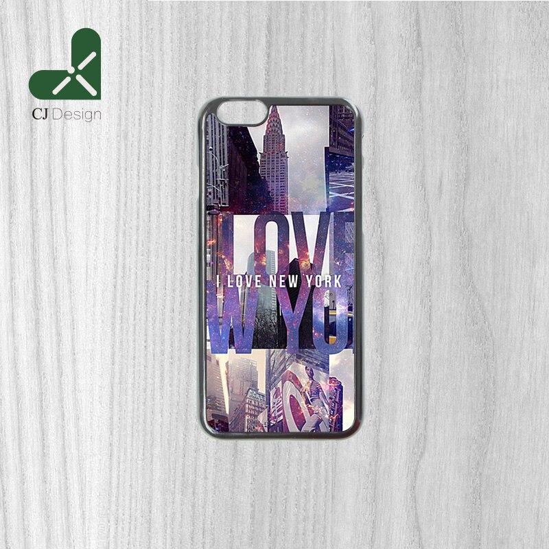 Nuovo Prodotto I Love New York Universo Sfondo Di Plastica Dura Del Telefono Mobile Caso Della Copertura Per Il Iphone 6 6 S 6 6 S Più 4 S 5 S 5c