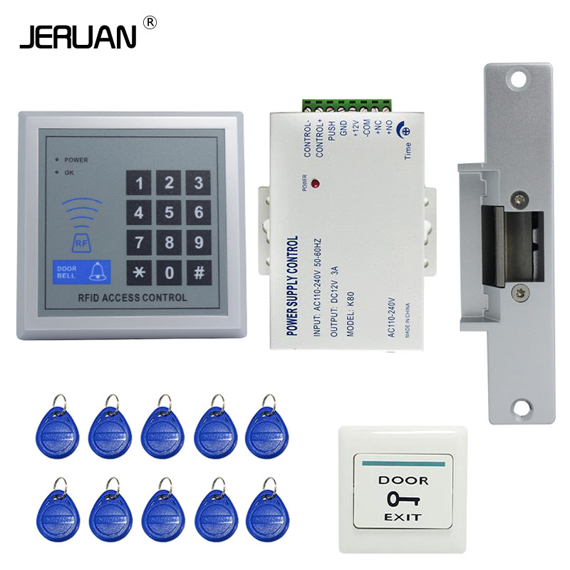 Jeruan Rfid Door Access Control System Kit Set Strike