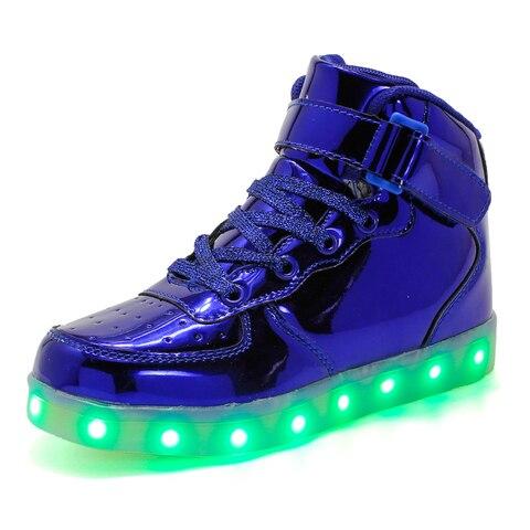 criancas levaram sapatos 2018 novo carregamento usb cesta sapatos com light up casual criancas boys