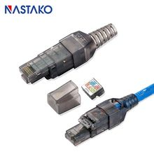 Toolfree RJ45 Cat6 Connector UTP Network toolless Cat6 Modular Plug Compatible with Cat5 Cat5e Cat6 Jack Lan ethernet Cable