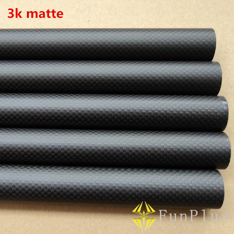 4pcs 3K Full Carbon Fiber Tubes Twill Matte 25*21*500 Tubes Long Pipe OD 25mm ID 21mm Length 500mm for DIY Quadcopter Hexacopter hct005 best selling 8pcs pack 16x14x500mm 3k twill matte tubes rod boom 100% carbon fiber resin