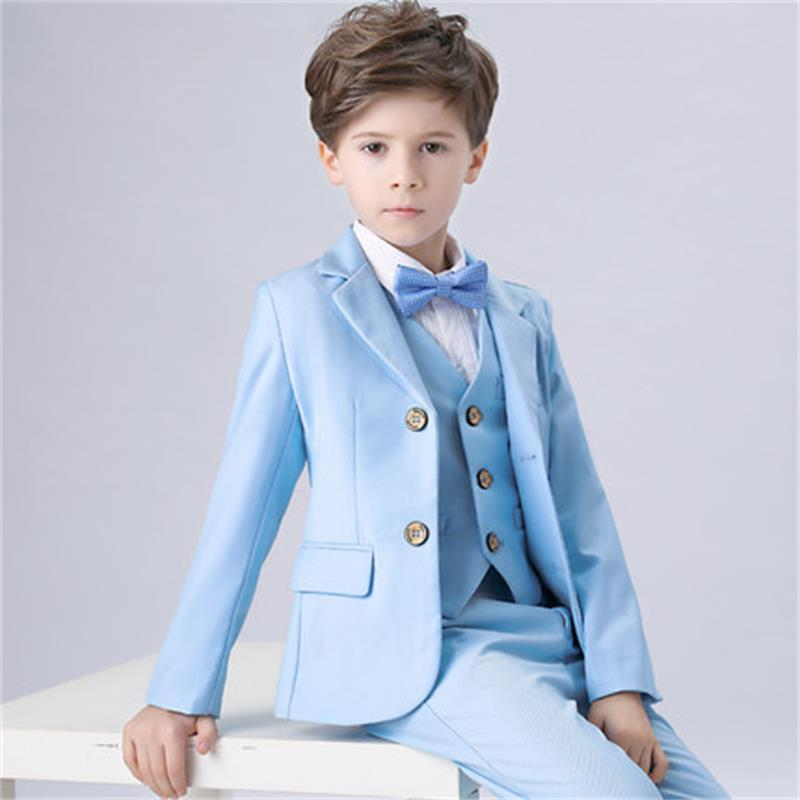 Children's small suit dress suit flower girl suit big children casual boy Korean version of the costume jacket children s suit suit spring and autumn boy dressed in big children korean flower children s clothing two candy colored jacket