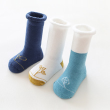 3 Pair=6PCS/lot Unisex Newborn Socks Cotton Winter Warm Thickening Terry Kids Socks Letter Cuffed Children Boy Baby Girl Socks by terry hyaluronic sheer rouge 3 цвет 3 baby bloom variant hex name f3666e