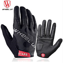 WHEEL UP Full Finger Cycling Glove Sport Shockproof Gloves Anti-Slip Bike Bicycle Touch Screen MTB Road