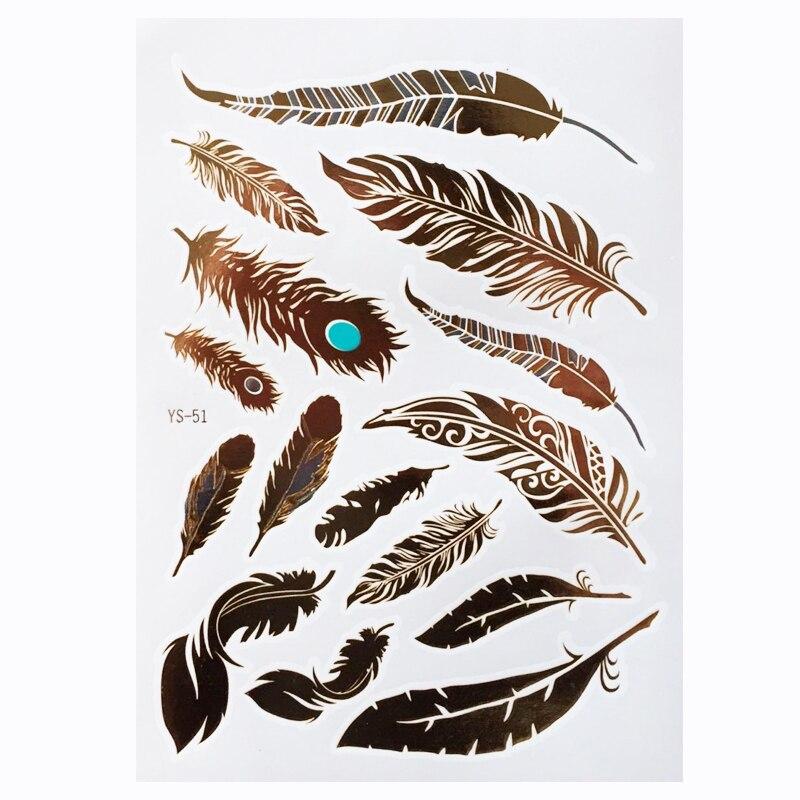 5пцс / лот Ватерпрооф Темпорари Таттоо - Тетоважа и боди арт - Фотографија 6