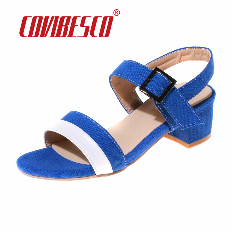COVIBESCO Fashion Women Gladiator Sandals Casual Summer Shoes Ladies Female Open Toe Thick High Heels Shoes Woman Sandal women sandals shoes 2017 summer shoes woman gladiator wedges cool fashion rivet platform female ladies casual shoes open toe