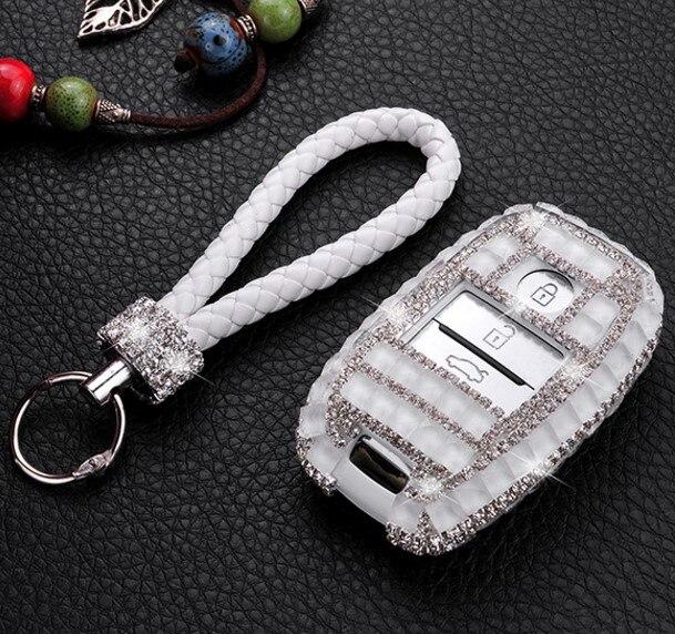 Gift Luxury Diamond Bling Key Case Holder Wallet For KIA K3 K5 Sorento KX5 Optima KX3 K3S Sportage Carens Smart Fob Key Cover