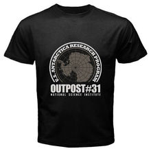 Family T Shirts  MenS Crew Neck Print Short Hehing Outpost #31 John Carpent Movie Black O Tall Tee