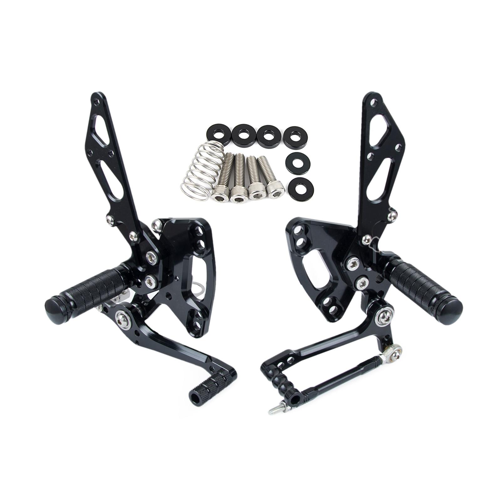 New Arrived CNC Adjustable Foot pegs Rearset Footrests Rear Sets For Kawasaki Ninja 1000 /ABS Z1000/ABS Z1000SX  2011 2012 2013 titanium cnc aluminum racing adjustable rearset foot pegs rear sets for yamaha mt 07 fz 07 mt07 fz07 2013 2014 2015 2016