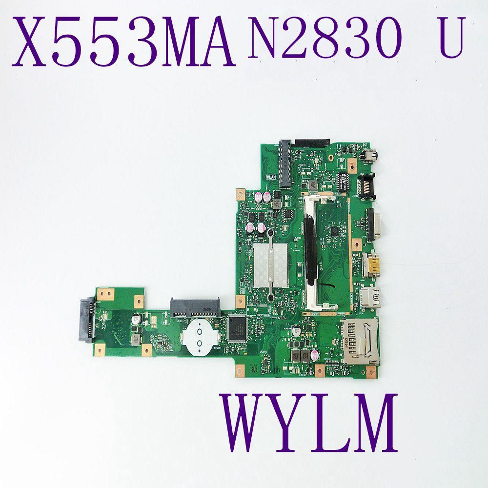 X553MA с N2830CPU плата REV2.0 для ASUS F503M X503M F553MA X503MA D503M Материнская плата ноутбука DDR3 Протестированы Бесплатная доставка