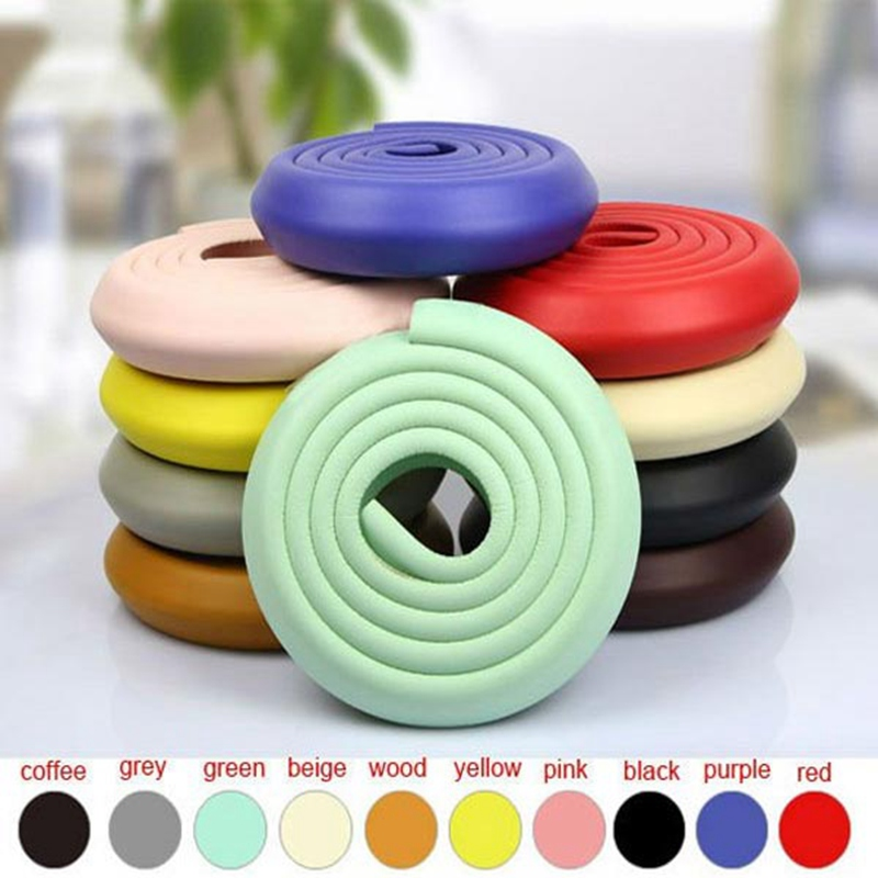 High Quality 200CM L Shape Thicken Baby Safety Corner Protector Edge Cushion Suitable for Wood Tile Multi Color Optional